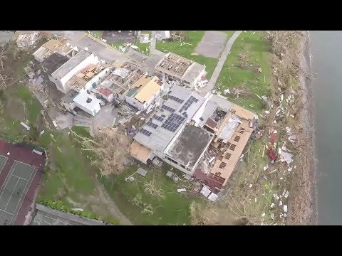 Dominica Severely Damaged From Hurricane Maria Aerial Views Youtube