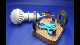 free energy light bulb using spinner