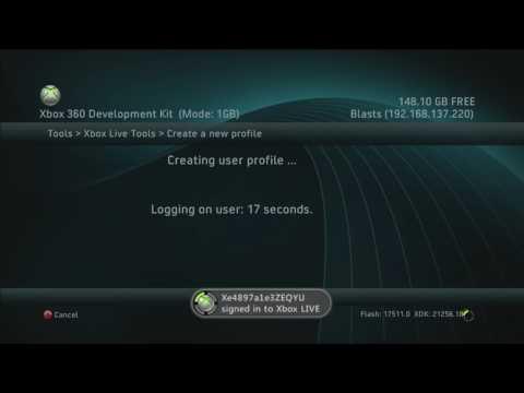 Generating Xbox Live Profiles (17511)
