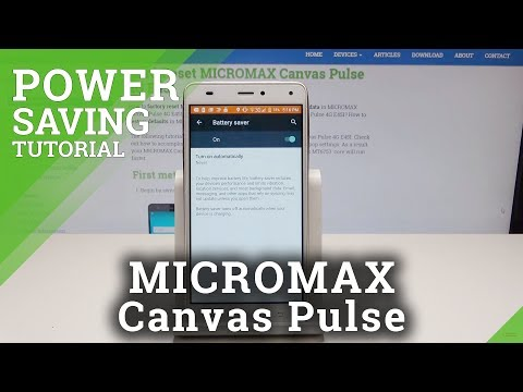 Battery Saver MICROMAX Canvas Pulse - How To Turn On Power Saving
