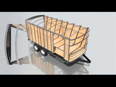 Enclosed Cargo Trailer Frame Building - YouTube