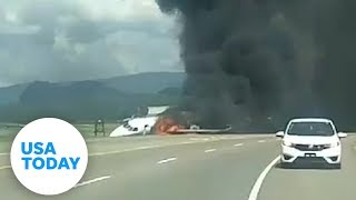 Dale Earnhardt Jr.'s private plane crashes | USA TODAY