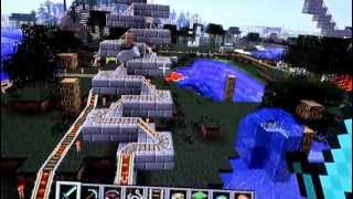 Minecraft - Un aldeano se subió a la montaña rusa Thumbnail