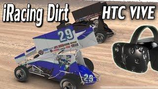SteamVR HTC VIVE - iRacing NASCAR Dirt, Eldora (First Impressions)