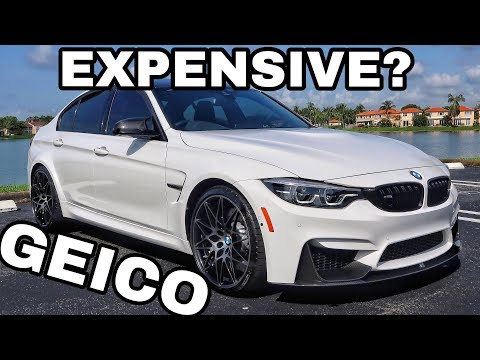 This is the INSURANCE COST of my 2018 BMW M3