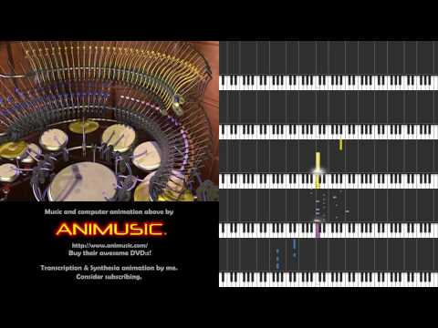 Animusic - Acoustic Curves [Synthesia sheet music]