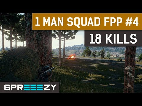 PUBG FPP 1 Man Squad Game #4 | 18 Kills | Vape Nation