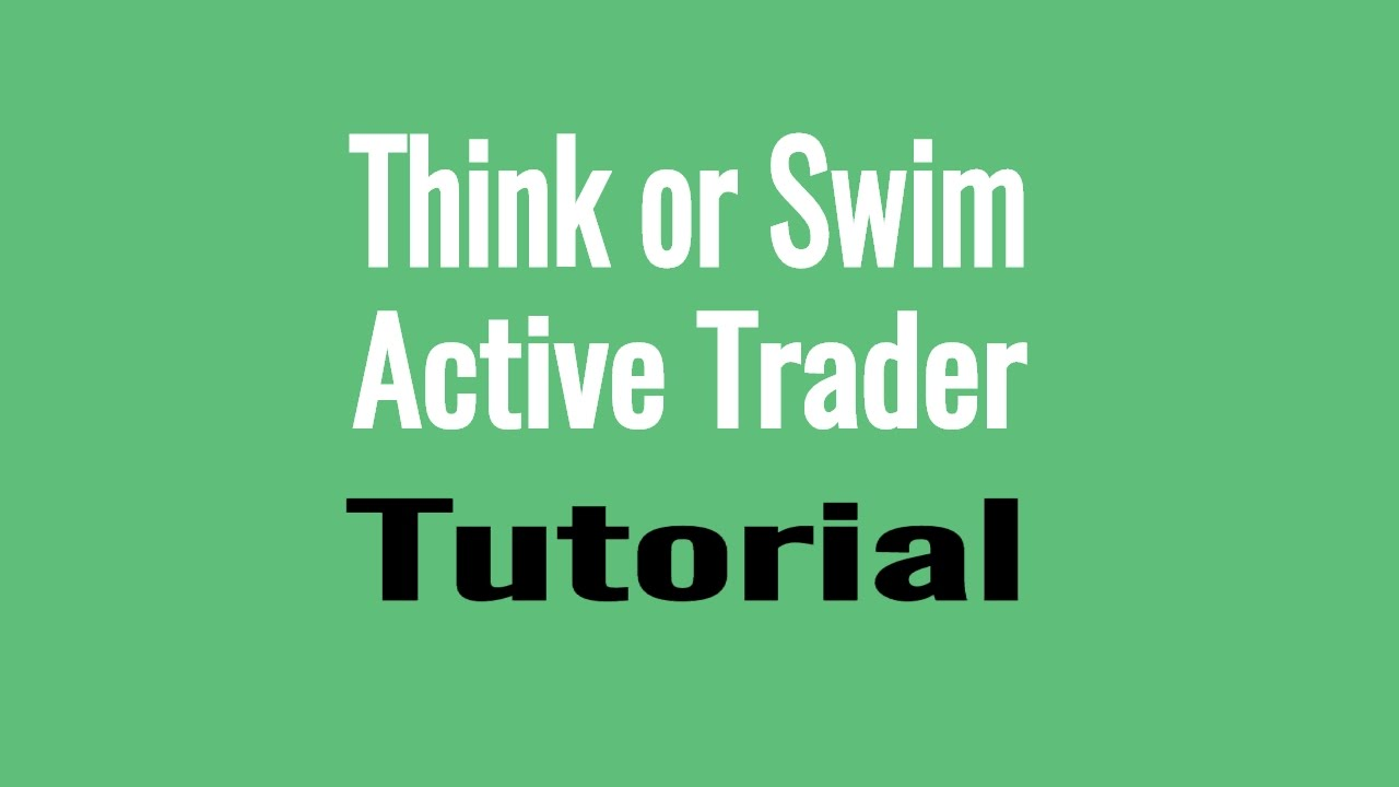 ThinkOrSwim Active Trader Tutorial - DOM, Level 2, Order Book & Price  Ladder trading