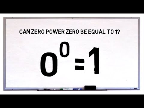 Can Zero Power Zero Be Equal To 1? 0 Power 0 = 1? Maths Failed Again.