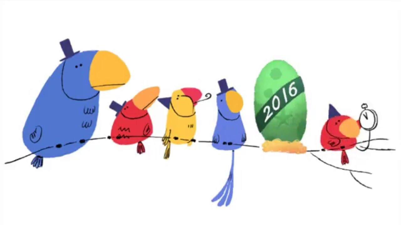 new year s eve 2016 google doodle animation youtube