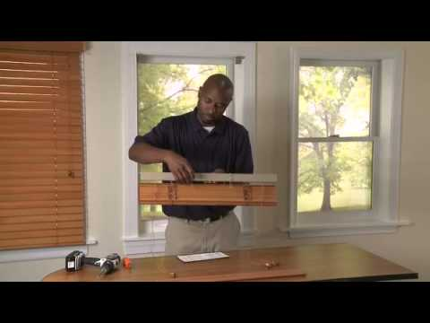 How to Install Inside Mounted Wood Blinds