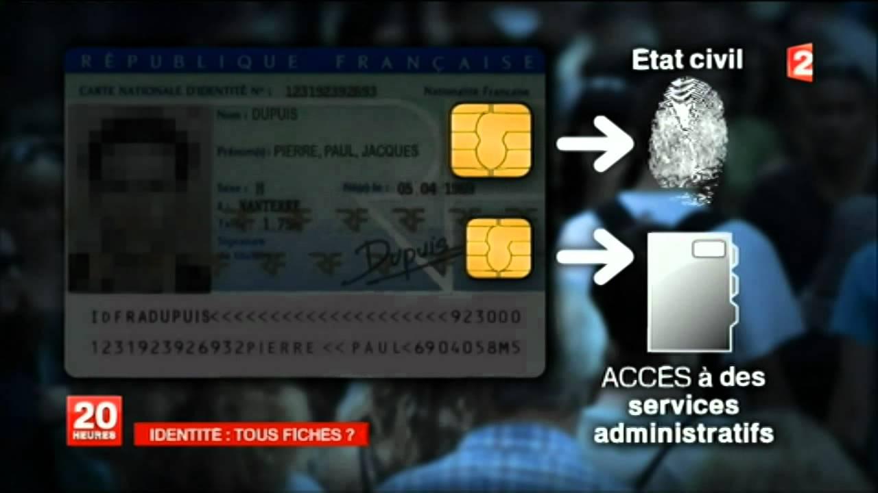 nouvelle carte d identité française biométrique Cartes d'identité biometriques : Fichage universel   YouTube