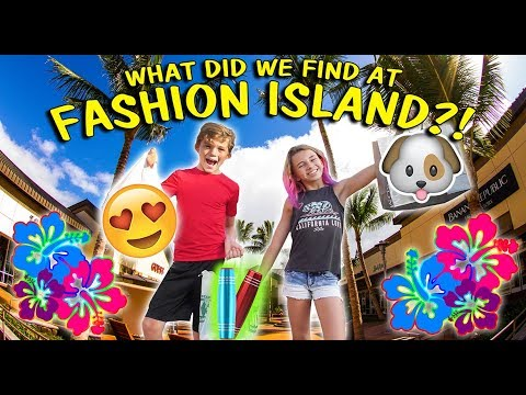 WHAT DO WE FIND AT FASHION ISLAND?!?! | We Are The Davises