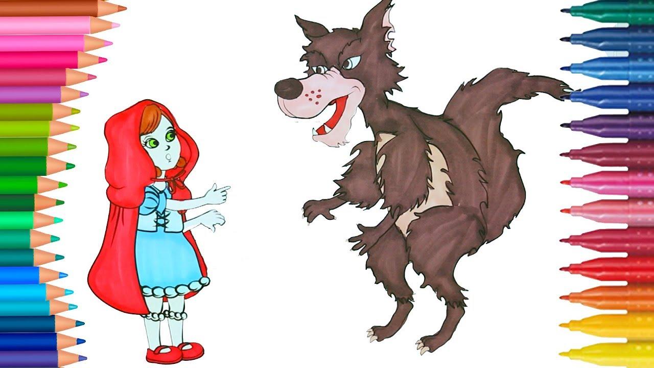 rotkappchen wolf ausmalbilder