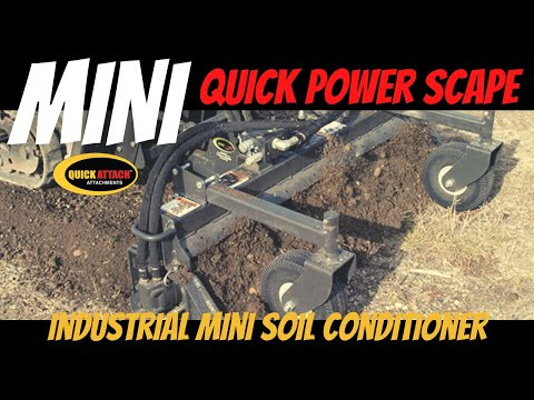 Quick Attach Mini Skid Steer Tiller Power Rake Attachments