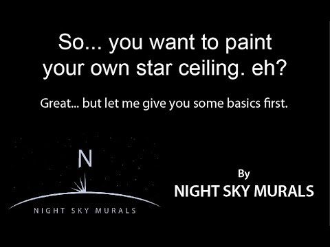 How To Paint A Star Ceiling You