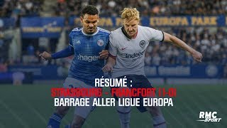 VIDEO: Résumé : Strasbourg - Francfort (1-0) - Barrage aller Ligue Europa