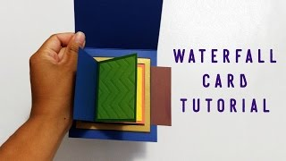 [Tutorial + Template] Quick And Easy Waterfall Card