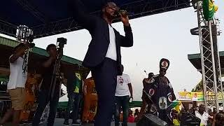 Flavour performing at the APGA Victory Rally/Flag-Off of Anambra Central Senatorial Election