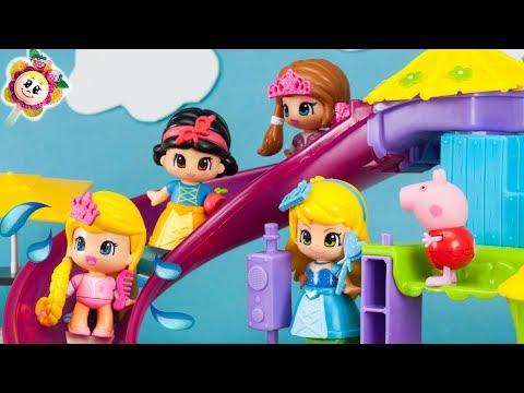 Peppa Pig et les PRINCESSES PINYPON samussent au nouveau PARC ACUATIQUE! Jouets Pepa et Pinipon