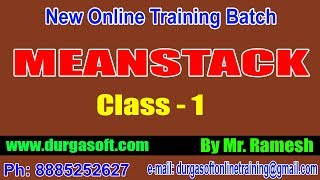 Meanstack class  & Angular 8 Installation || by Ramesh Sir