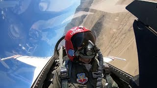 "Female Thunderbird Pilot ""Mace"" • In-flight Cockpit Video"