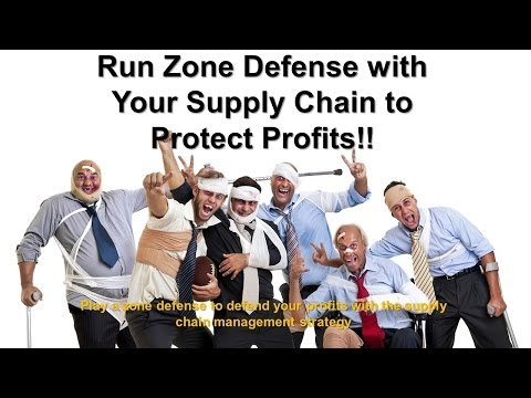 Supply chain management like a defensive coordinator on the football field to protect your profits