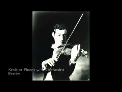 Kreisler, Sicilienne and Rigaudon for Violin and Orchestra   Peter Zazofsky