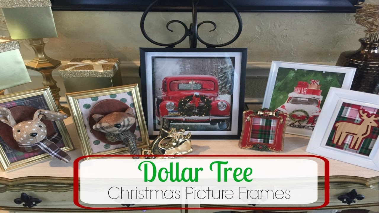 Dollar tree diy christmas picture frames youtube jeuxipadfo Image collections