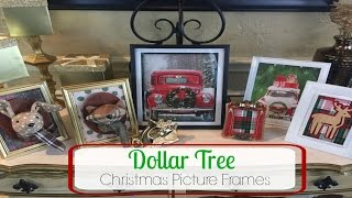 DOLLAR TREE DIY | Christmas Picture Frames