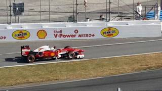 Sebastian Vettel and Kimi Raikkonen Race at Daytona 2016 Ferrari Finali Mondiali