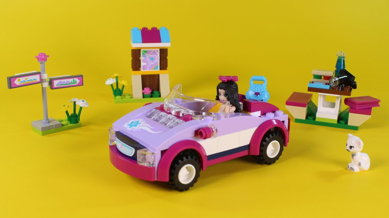 Lego Friends Emma S Sports Car Animated Building Instructions Set 41013 Stop Motion How To Youtube