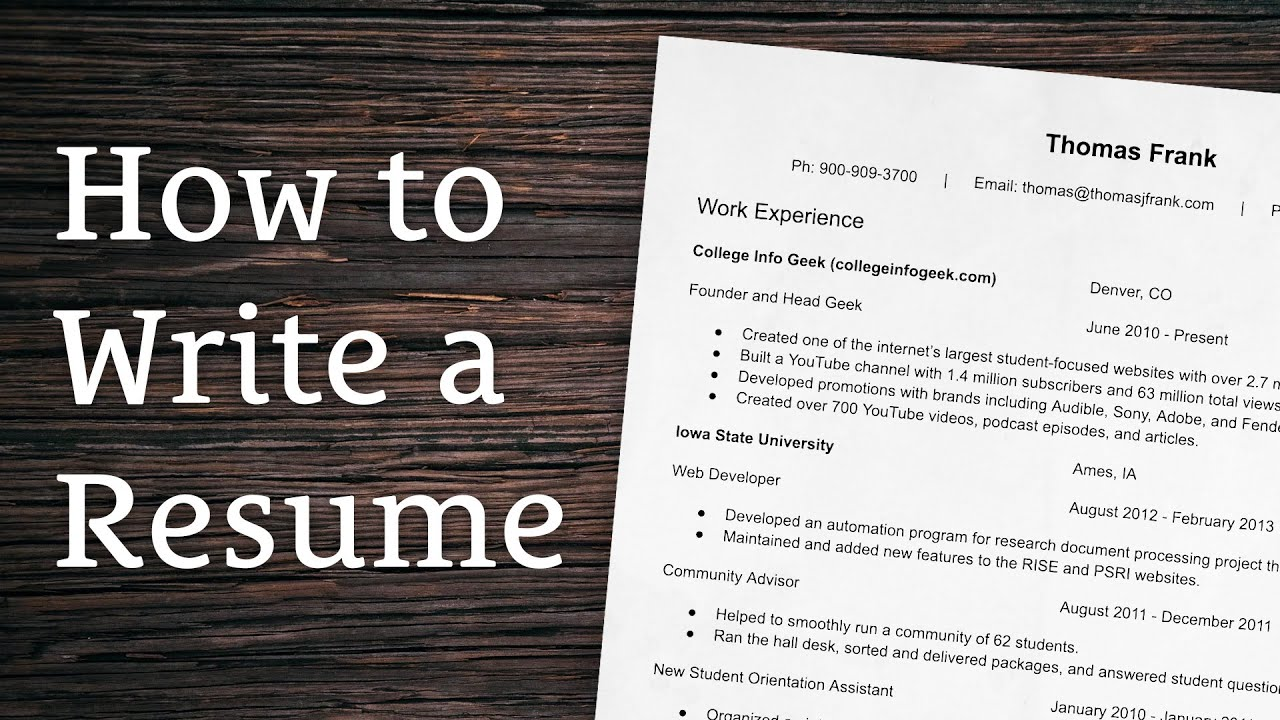 How to write a resume essay