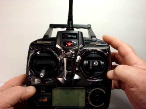 Video Overview of WL Toys V912/V913 Transmitter on