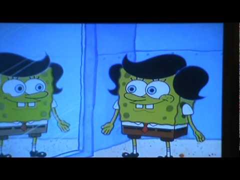 spongebob nude at work
