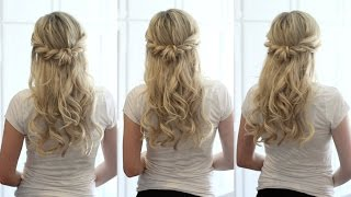 Soft Romantic Half Up Style