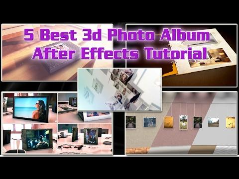 5 Best 3d Photo Album After Effects Tutorial | 3d Wedding Photo Album Videohive