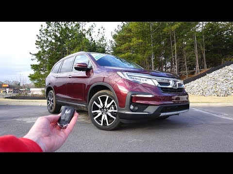 2019 Honda Pilot Elite: Start Up, Test Drive, Walkaround and Review