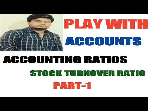 58# Accounting Ratio-6 (stock turnover ratio) class 12th