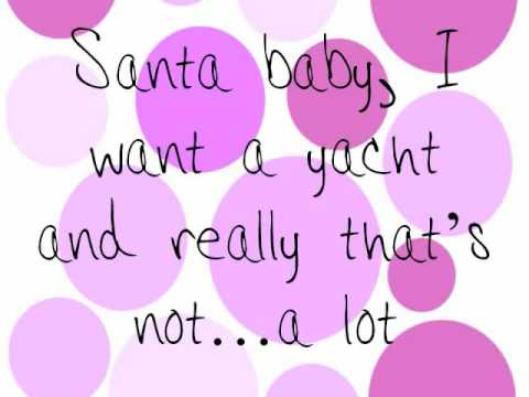 Santa Baby Taylor Swift Version with lyrics