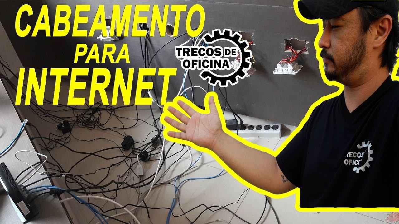 Como eu fiz a rede de INTERNET (cabeamento) da minha casa. Parece complicado mas não é...
