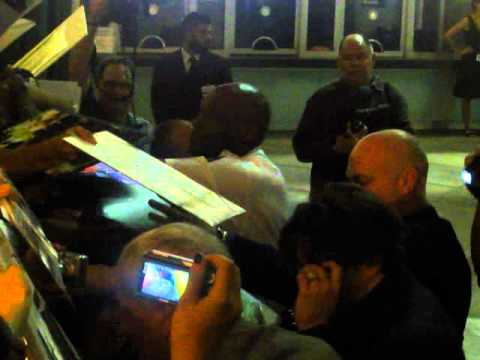 Johnny Depp Signing Autographs @ The Rum Diary Premiere