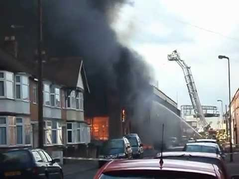 Fire In Leicester 21/4/2012