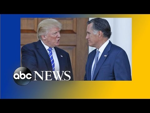 Speculation Grows Over Possibility of Mitt Romney Joining the Trump Administration