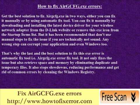 "Fix ""AirGCFG.exe - Entry Point Not Found"" error"
