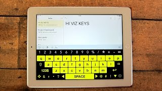 High Visibility Keyboard iPad App for Visual Impairment and Low Vision