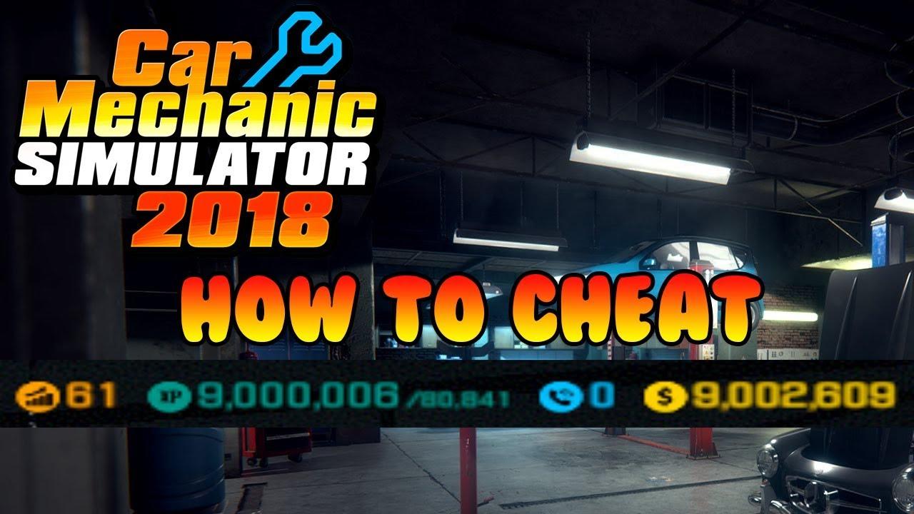 Car Mechanic Simulator 2018 Money And Level Cheat Engine Youtube