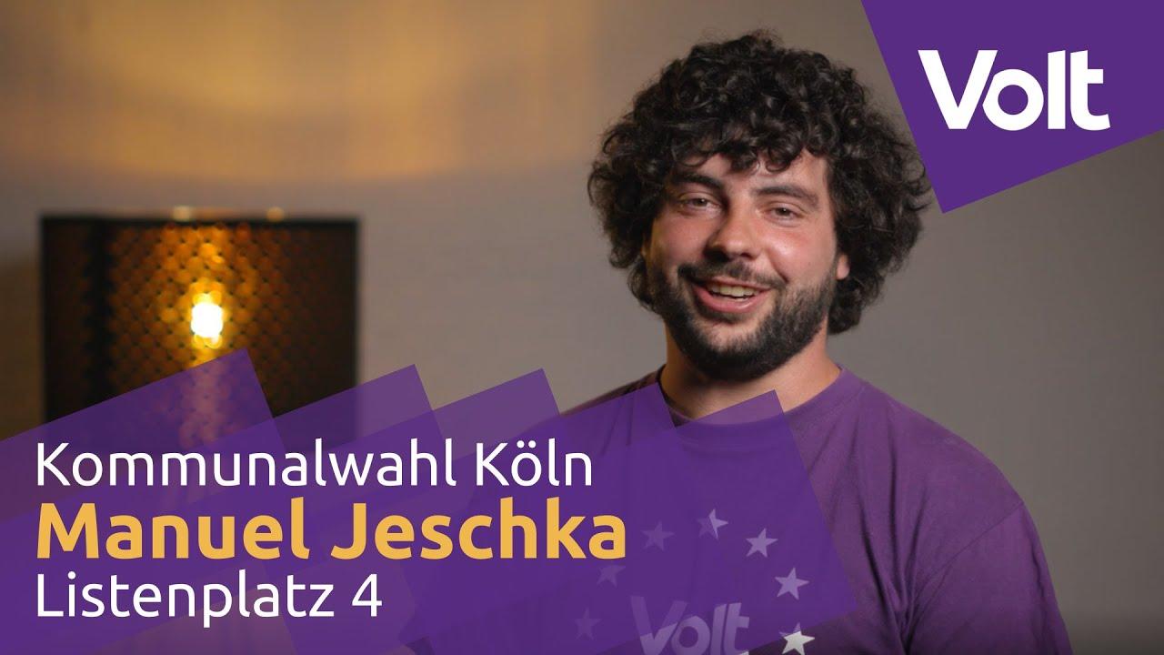 YouTube: Volt Köln Kommunalwahl 2020 - Manuel Jeschka für den Stadtrat! #VoteVolt