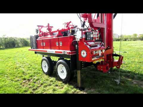 Mobile Drill B48 on Trailer