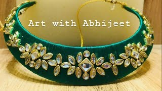 How To Make Silk Thread Designer Necklace/Choker at Home||SILK THREAD NACKLACE MAKING